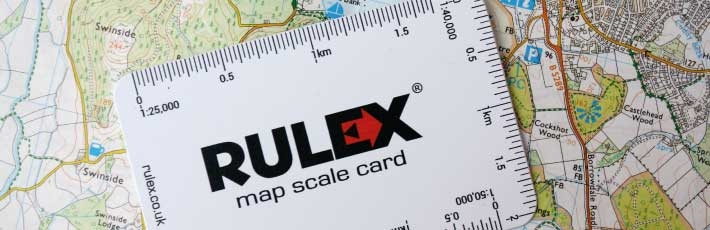 Scale card for Ordnance Survey maps